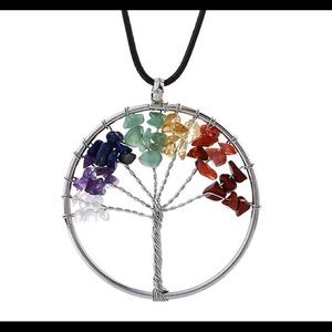🦋Tree of life with chakra stones necklace